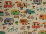 CAMPING ON TOUR - Fabric 100% Cotton - Price Per Metre